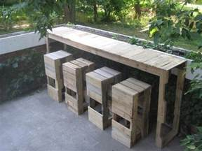 terrasse tisch selber bauen garten bar selber bauen freshouse