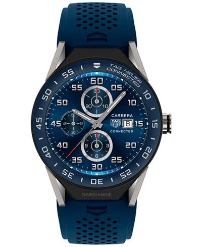 Smartwatch Rubber Blue tag heuer modular connected 2 0 s swiss blue