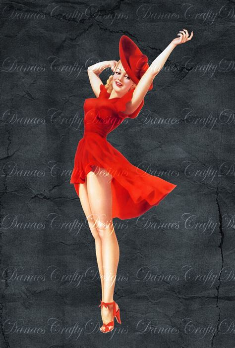 pin up items similar to vintage pin up on charcoal