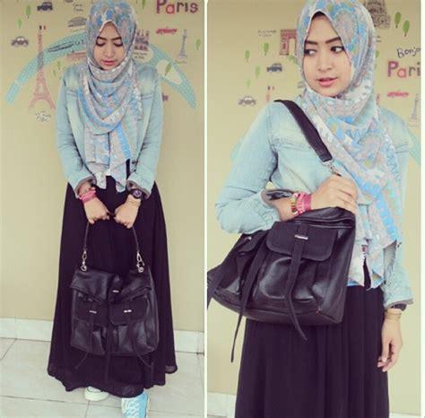 tutorial hijab wisuda natasya farani til feminin dengan rok skirt ala hijaber natasha farani