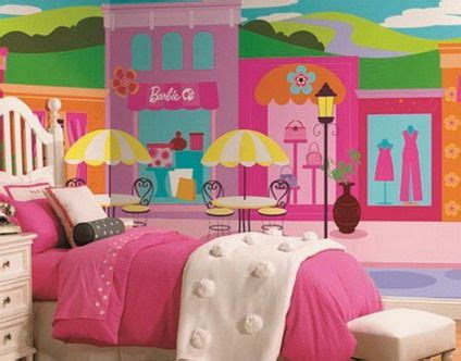 barbie wallpaper for bedroom colorful barbie city wall murals stickers for pink teenage
