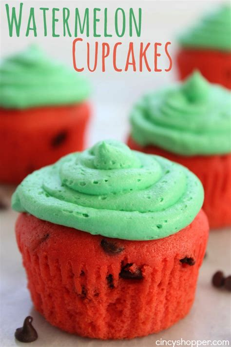these watermelon cupcakes would be perfect for a picnic a collapsible watermelon cupcakes cincyshopper