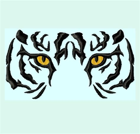 tiger pattern logo tiger eyes embroidery designs 3 sizes instant by