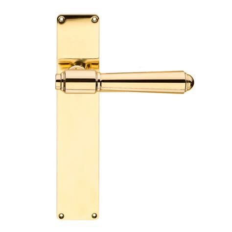 Door Handle Exterior Back Plate Brass Briggs 132 Mm Exterior Brass Door Handles