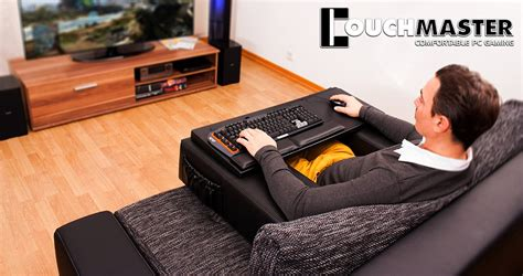 pc gaming on the couch couchmaster lap desk reverse sofa technabob