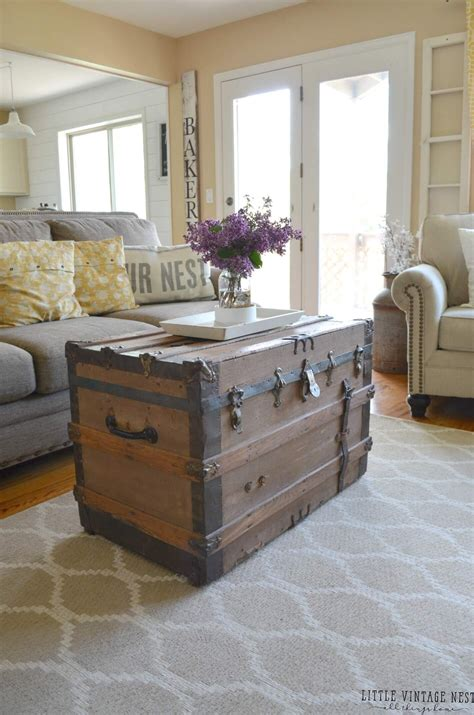 living room trunk 35 rustic farmhouse living room design and decor ideas for
