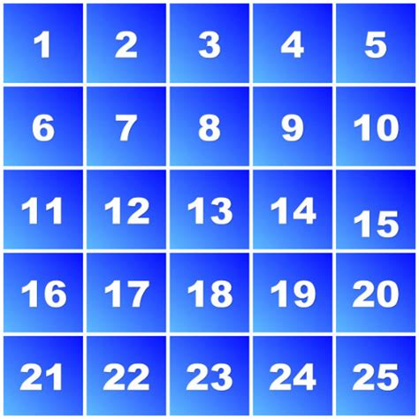 printable large numbers 1 25 image gallery numbers 1 25