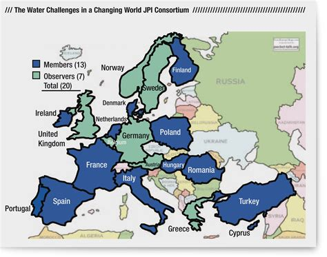 map of europe seas the joint programming initiative the challenges of water