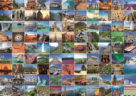 99 Most Beautiful Places 1000 PC Ravensburger Jigsaw Puzzle