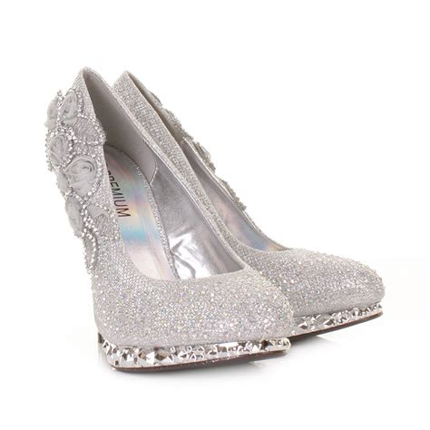 Womens Silver Shoes For Wedding by Silver High Heel Shoes For Wedding