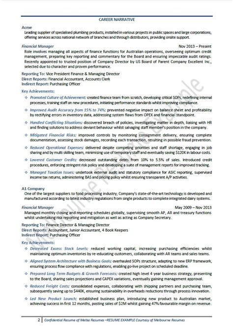 Finance Executive Resume Samples – Resume Sample 18   CFO / Finance Executive resume   Career