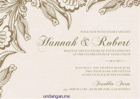membuat undangan pernikahan bahasa inggris 16 desain undangan pernikahan bahasa inggris terbaik