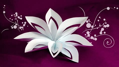 Of Paper Cutting And Folding - layered paper flower cutting and folding technique