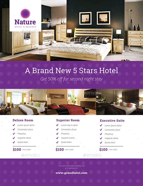 hotel flyer by guuver graphicriver