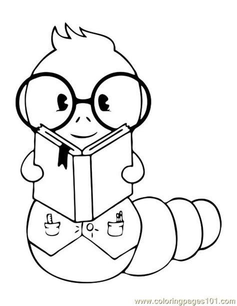 free inch worm coloring pages