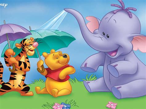 heffalump winnie  pooh  tigger cartoon umbrellas