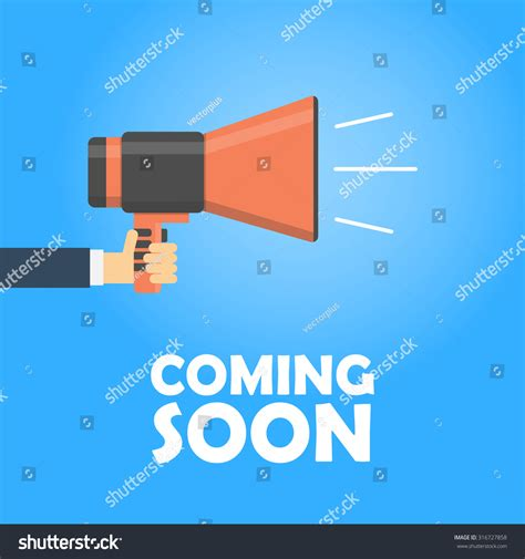 Coming Soon Vector Banner Announcement Megaphone Megaphone Concept Discount And Sale Template Coming Soon Banner Template
