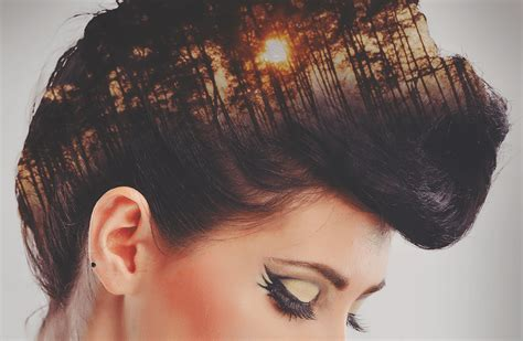 Double Exposure Hair Tutorial | tutorial how to create double exposure effects in