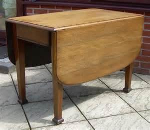 Drop Leaf Craft Table An Oak Arts Crafts Drop Leaf Table Antiques Atlas