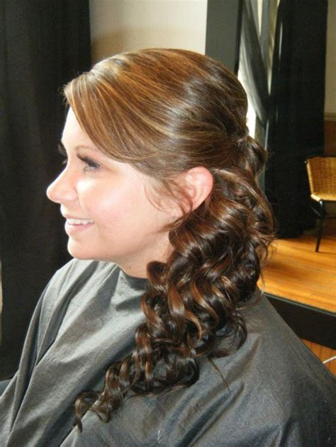 hairstyles side curly ponytail curly side ponytail prom style hair pinterest style