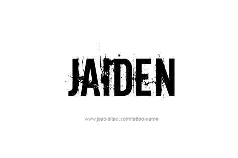 jaiden name tattoo designs