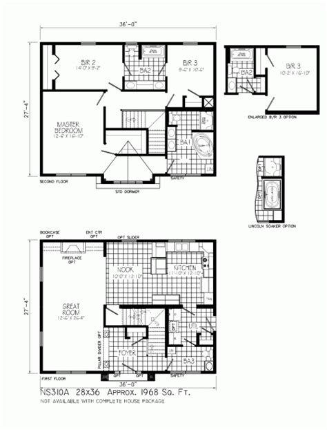 floor plans for two story homes ns310a stonewall by mannorwood homes two story floorplan