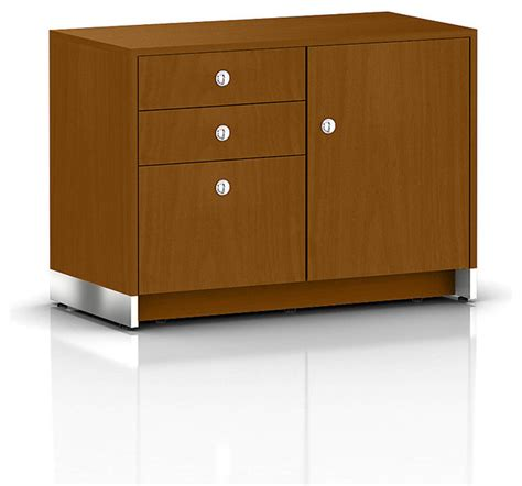 file cabinet credenza modern sled base credenza 1 door with box box file drawers