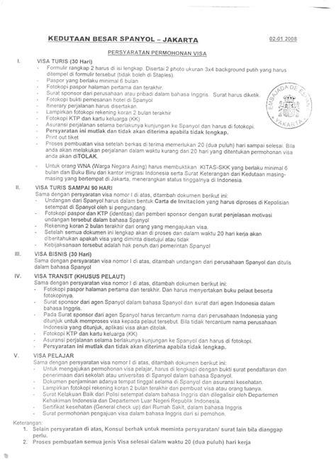 syarat pembuatan visa schengen jerman visa umum ppi spanyol