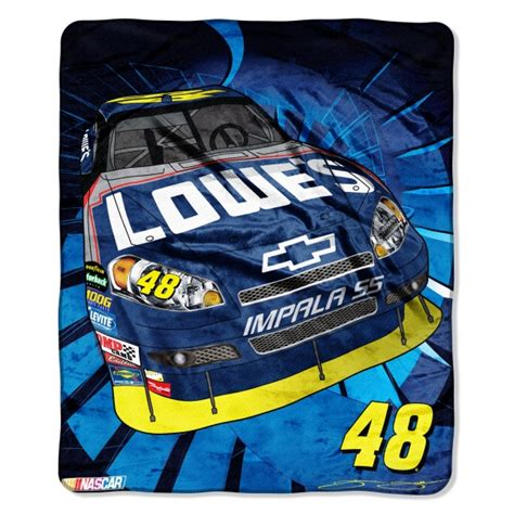 Jimmie Johnson Bedding Sets Jimmie Johnson 48 Nascar Micro Raschel Blanket 50 Quot X 60 Quot
