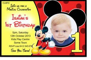 Mickey Mouse Birthday Invitations Template by Mickey Mouse Template Invitation
