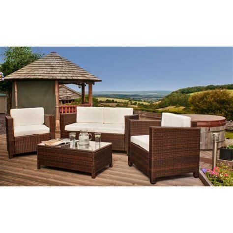 tuscany rattan garden furniture set