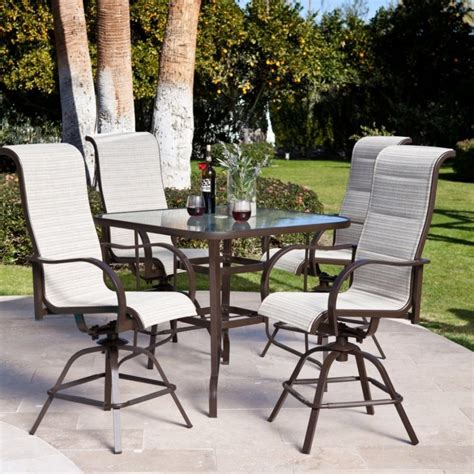 Patio Furniture Bar Sets Bar Height Outdoor Tables Tables Bar Height Patio Set Canada Bar Height Patio Table Only Bar