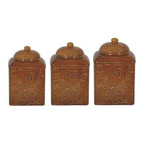 western kitchen canisters savannah mustard canister set