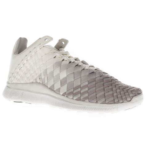 Nike Free Inneva Woven White nike s free inneva woven low top running sports white beige trainers ebay