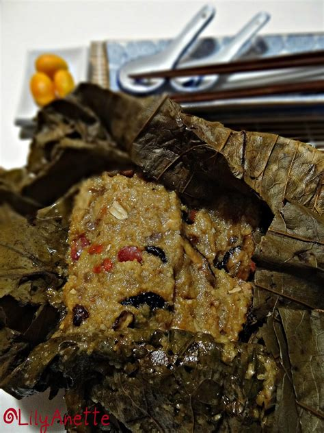 glutinous rice wrapped in lotus leaf lilyanette lotus leaf wrapped glutinous rice