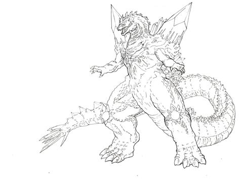 godzilla 2 coloring pages space godzilla by tgping on deviantart