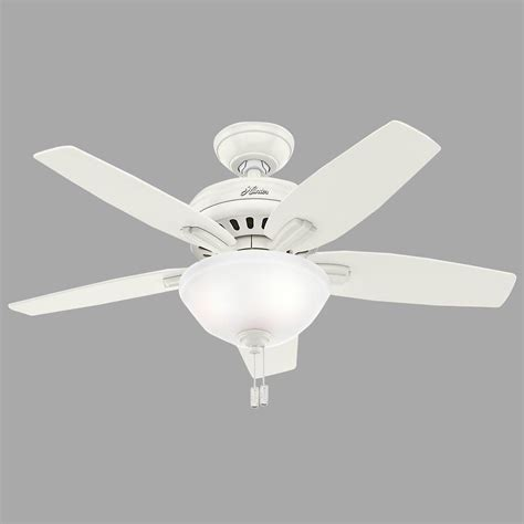 Hunter Newsome 42 In Indoor Fresh White Ceiling Fan With Ceiling Fan Light Kit White