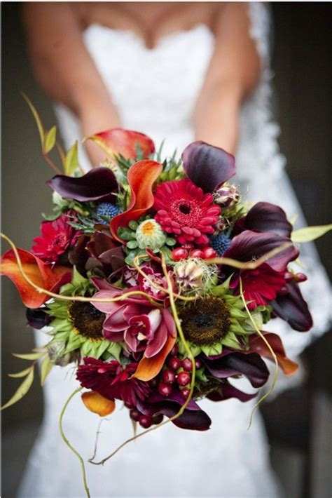 fall flowers for wedding autumn wedding flowers bridal bouquet inspiration photo