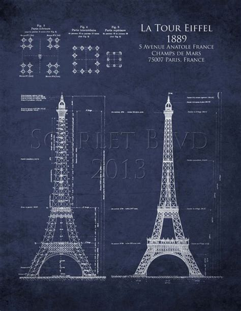 architectural blueprints for sale eiffel tower architectural blueprint tour eiffel french