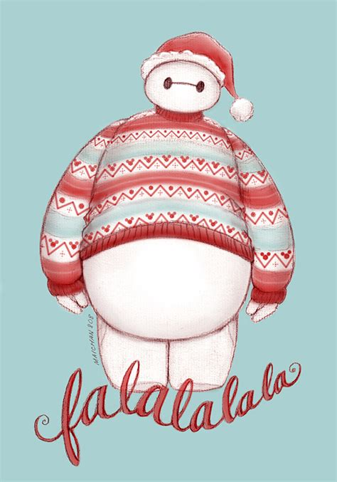 baymax wallpaper christmas christmas baymax fa la la la la by maichan art on deviantart