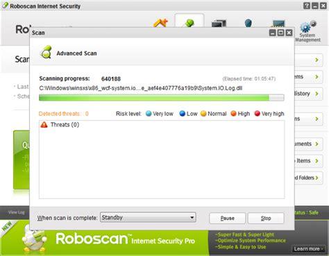 roboscan antivirus full version roboscan internet security free 32bit download