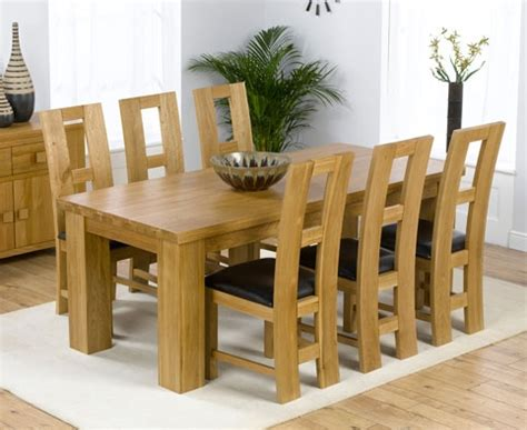 Oak Dining Room Table And 6 Chairs by Palermo Oak Dining Table 200cm 6 Girona Chairs