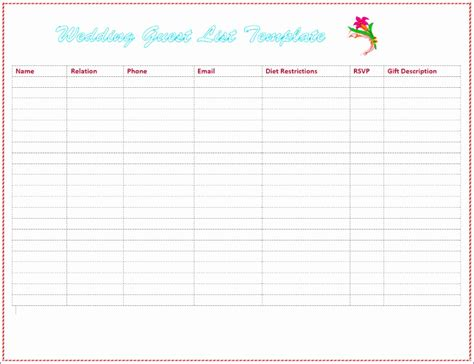 rsvp guest list template rsvp excel template ekdnh awesome excel baby shower