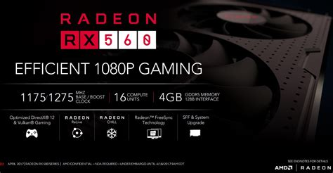 Amd Rx560 amd refreshes its budget midrange cards with the rx 560