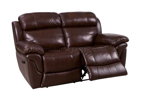 Leather Match Sofa Justine Reclining Sofa Cm6784 In Brown Leather Match W Options