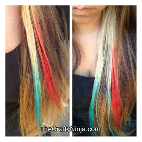 how to color hair with kool aid kool aid hair color the crafty