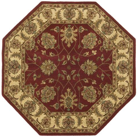 octagonal rug handmade wool traditional agra octagon rug 6x6 168990 rugs at sportsman s guide
