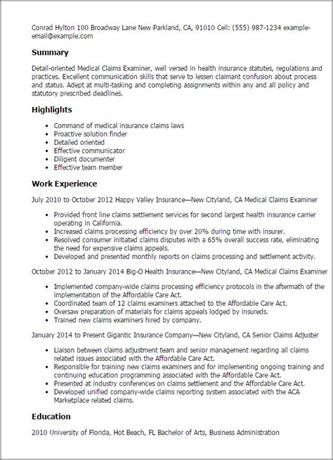 insurance claims administrator cover letter template