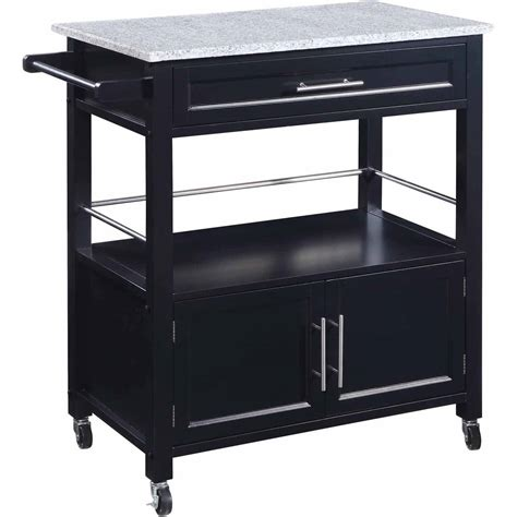 Costway Rolling Kitchen Cart Island Wood Top Storage Kitchen Storage Carts Cabinets