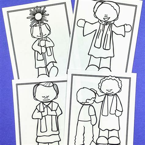 priest coloring pages  catholic kids  prep